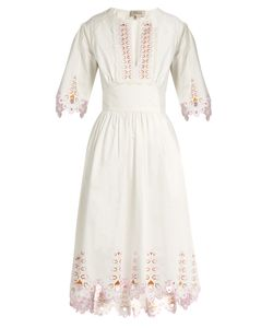 Temperley London | Amour Broderie-Anglaise Cotton-Poplin Dress