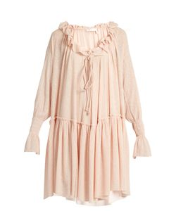 See By Chloe | Ruffled Stretch Gauze-Jersey Dress