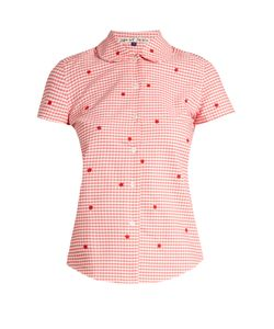 Jupe By Jackie | Chur Embroidered Gingham Cotton Shirt