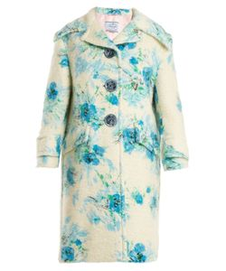 Prada | Poppy-Print Mohair And Blend Coat