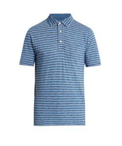 Faherty | Multi-Striped Cotton Polo Shirt