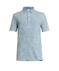 Faherty | Striped-Cotton Polo Shirt