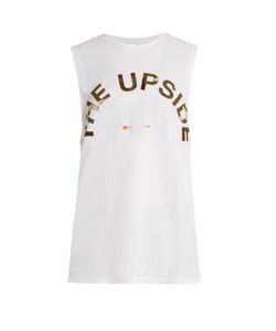 THE UPSIDE | Kova Logo-Print Performance Tank Top