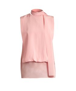 Valentino | Tie-Neck Silk-Georgette Blouse