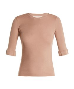 Red Valentino | Lace-Insert Cashmere And Silk-Blend Sweater