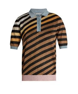 Marco De Vincenzo | Diagonal-Striped Polo Shirt