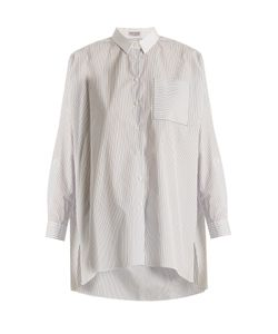 Brunello Cucinelli | Oversized Pinstriped-Cotton Shirt