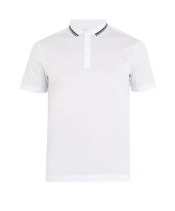 DANWARD | Striped-Collar Cotton-Jersey Polo Shirt