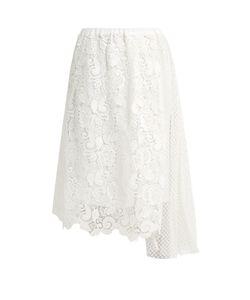 No. 21 | Macramé-Lace Draped-Panel Skirt