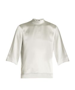 Helmut Lang | Tie-Back Silk-Charmeuse Top