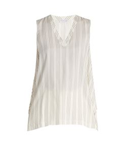 Brunello Cucinelli | Striped Silk Top