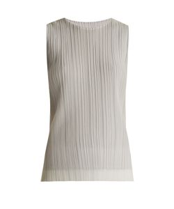 PLEATS PLEASE BY ISSEY MIYAKE | Flutter Tulle-Overlay Pleated Top