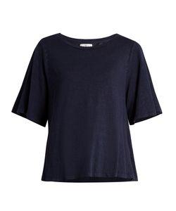 Velvet by Graham & Spencer | Marina Linen-Blend Burnout-Jersey T-Shirt