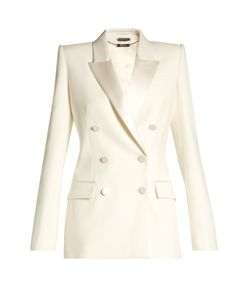 Alexander McQueen | Satin-Lapel Double-Breasted Jacket