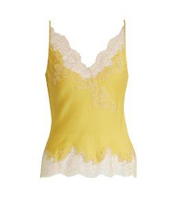 Carine Gilson | Lace-Trimmed Silk-Satin Cami Top