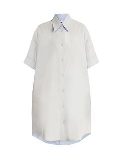 MM6 by Maison Margiela | Detachable-Collar Coated-Cotton Shirtdress