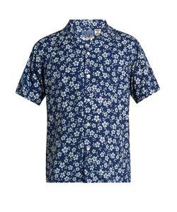 Blue Blue Japan | -Print Short-Sleeved Cotton Shirt