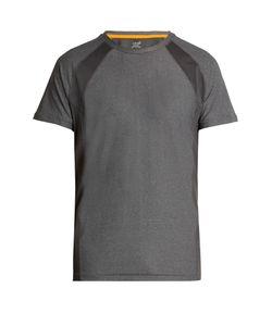 CASALL   Mix Mesh Short-Sleeved Performance T-Shirt
