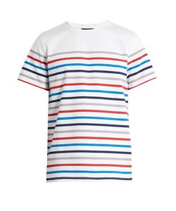 A.P.C. | Striped Crew-Neck Cotton T-Shirt