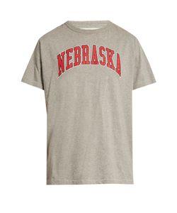 OFF-WHITE   Nebraska-Print T-Shirt