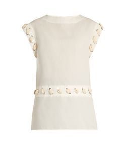 J.W. Anderson | Cotton And Linen-Blend Lace-Detail Top