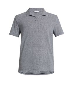 Onia | Shaun Striped Linen-Blend Polo Shirt