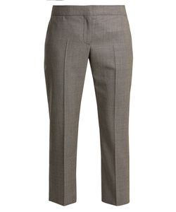 Alexander McQueen | Mid-Rise Slim-Leg Cropped Wool Trousers