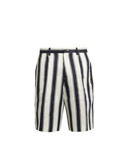 Tomorrowland | Relaxed-Fit Striped Linen Shorts