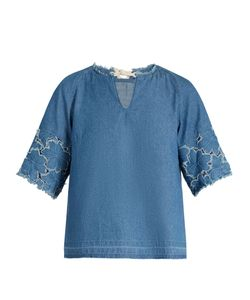 Muveil | -Cuff Denim Top