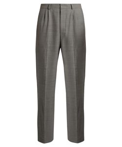 Ami | Mid-Rise Wide-Leg Stretch-Wool Trousers
