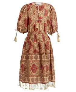 Zimmermann | Tulsi Border Jour-Échelle Trimmed Linen Dress