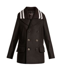 Givenchy | Detachable-Collar Wool-Blend Felt Coat