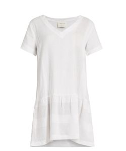 CECILIE COPENHAGEN | V-Neck Scarf-Jacquard Cotton Dress