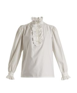 Stella Mccartney | Meredith Ruffle-Trimmed Cotton-Poplin Blouse
