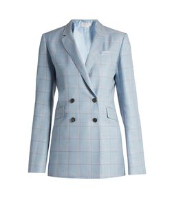 Gabriela Hearst   Themis Checked Silk And Wool-Blend Jacket