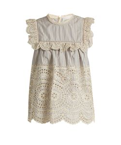 Zimmermann | Meridian Striped Broderie-Anglaise Cotton Top