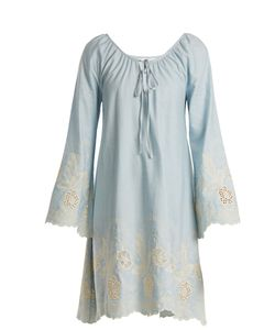 Athena Procopiou | Gypset Embroidered Cotton Dress
