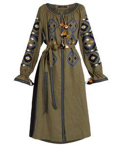 Vita Kin | Fatimas Eye Embroidered Linen Midi Dress