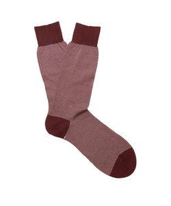 PANTHERELLA | Seymour Striped Cotton-Blend Socks