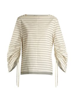 Tibi | Boat-Neck Striped Top