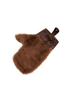 CEDES MILANO | Leather And Shearling Shoeshine Mitt