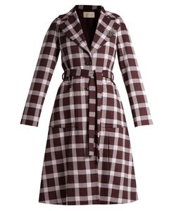 Christopher Kane | A-Line Gingham Wool-Blend Coat