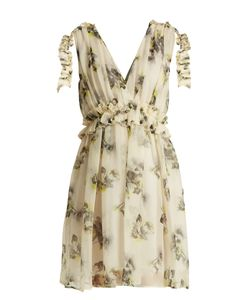 MSGM | Silk-Chiffon Mini Dress