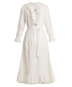 Zimmermann   Corsair Pinstripe Cotton-Blend Dress