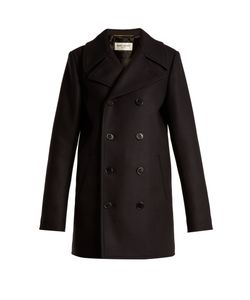 Saint Laurent | Double-Breasted Wool Pea Coat