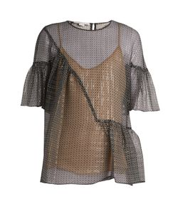 Stella Mccartney | Star-Print Silk-Blend Top
