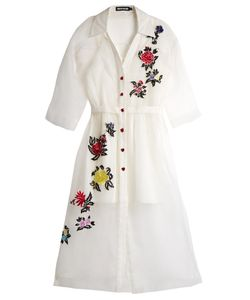 House Of Holland | -Embroide Silk Shirtdress