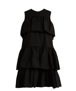 MSGM | Tie-Ruffle Cotton-Poplin Dress