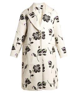 Huishan Zhang   Alison Jacquard Single-Breasted Coat