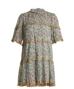 Isabel Marant Étoile   Maiwenn Print Ruffle-Trimmed Cotton Dress
